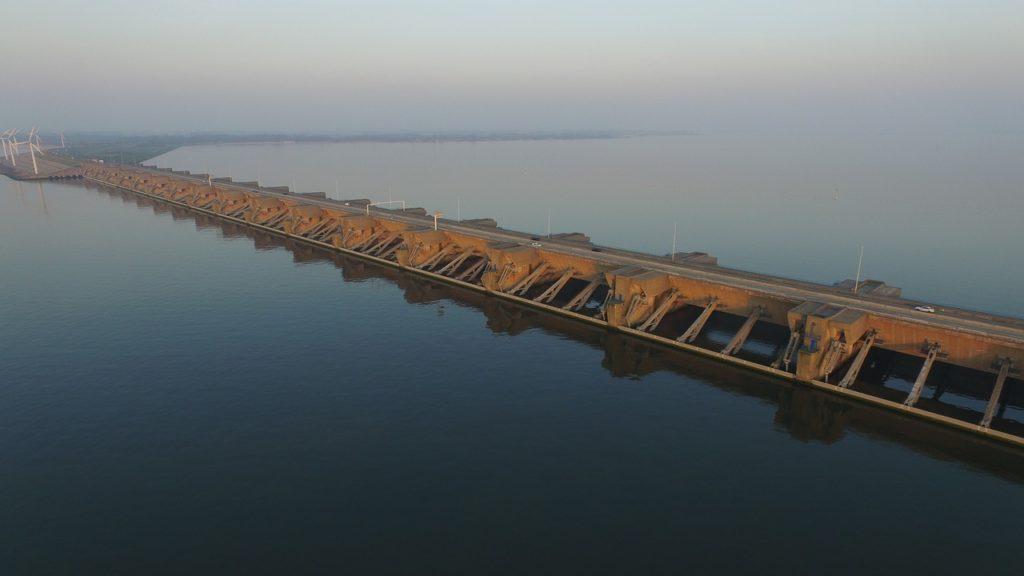 Ein der Deltawerke in Zeeland