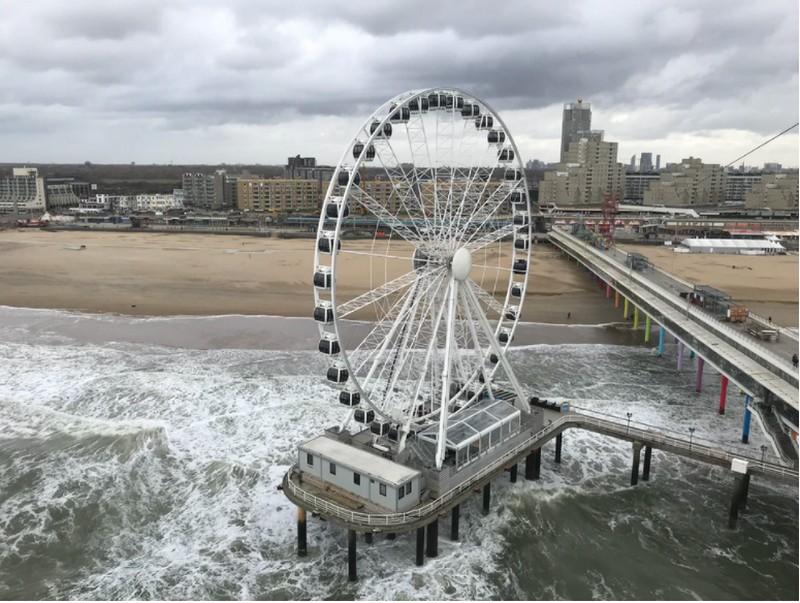 Strandurlaub Holland mit Kindern feiern Sie am besten im Riesenrad beim Strand von Scheveningen