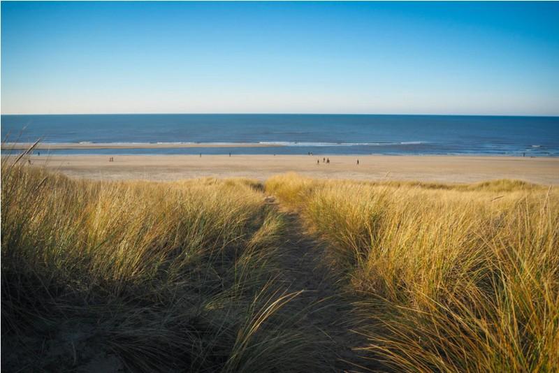 Urlaub in Holland am Meer auf einem kilometerlangen Sandstrand.