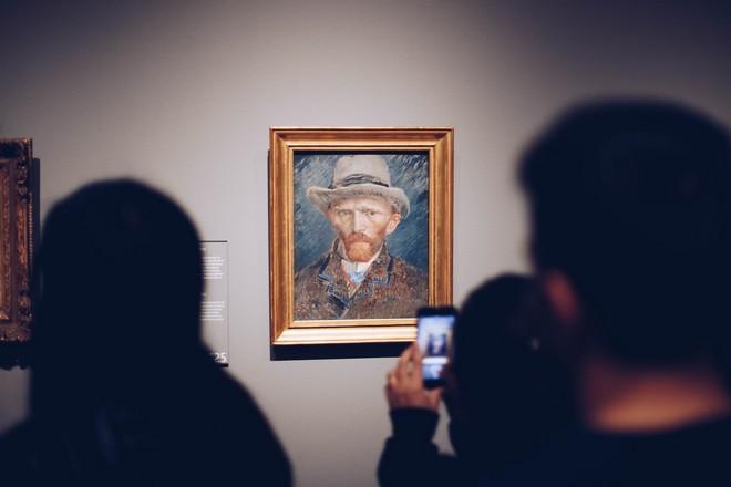 Selbstporträt von Vincent van Gogh im Museum