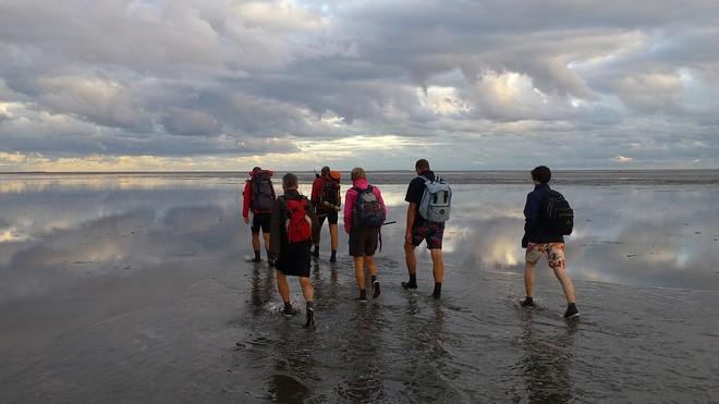 Wattwanderung beim Wattenmeer