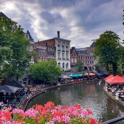 Oudegracht: Kanal in Utrecht